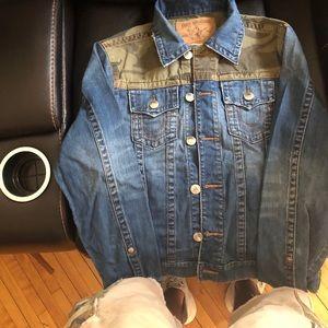 Men's True Religion Camo Trucker Jacket